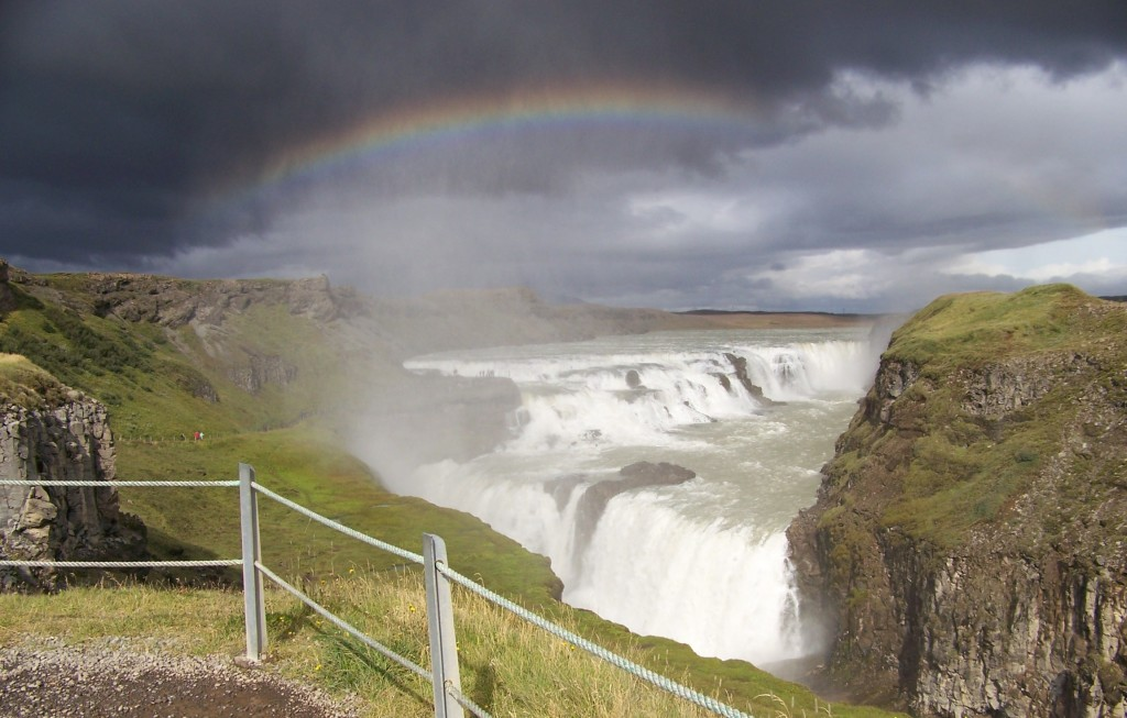 Gulfoss in the summer time.